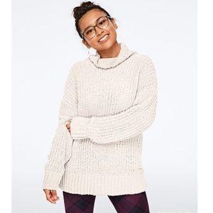 Pink VS Boyfriend Mock Neck Cozy Knit Sweater XS